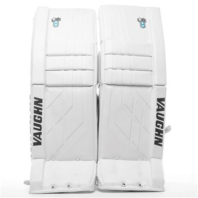 White/White (Vaughn Velocity VE8 XFP Goalie Leg Pads - Intermediate)