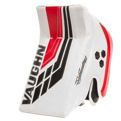 White/Black/Red (Vaughn Velocity VE8 XFP Goalie Blocker - Senior)