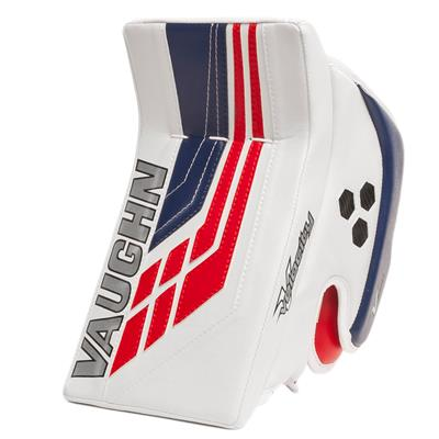 White/Blue/Red (Vaughn Velocity VE8 XFP Goalie Blocker - Senior)