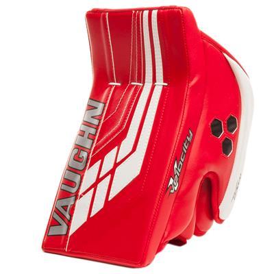 Red/White (Vaughn Velocity VE8 XFP Goalie Blocker - Intermediate)