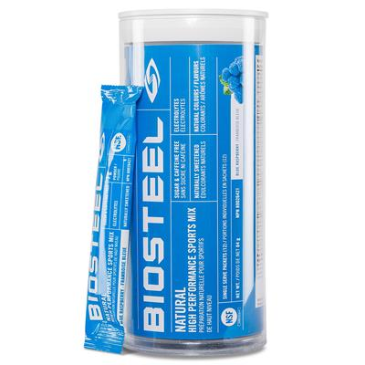 Blue Raspberry (Biosteel High Performance Sports Mix Tube - 12 Count 7g Packet)