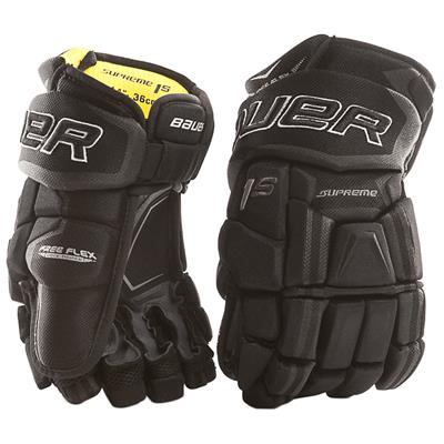 Black (Bauer Supreme 1S Hockey Gloves - 2017 - Senior)