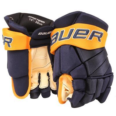 Navy/Gold/White (Bauer PHC Vapor Pro Hockey Gloves - Junior)