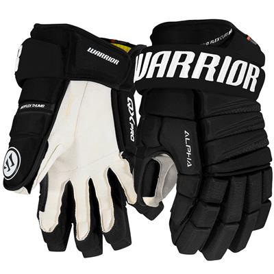 Black (Warrior Alpha QX Pro Hockey Gloves - Junior)