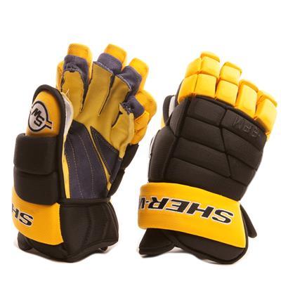 Black/Gold (Sher-Wood BPM 120 Hockey Gloves)