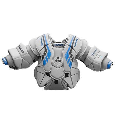 Grey/Black/Blue (Vaughn Velocity VE8 XFP Goalie Chest and Arm Protector - Junior)