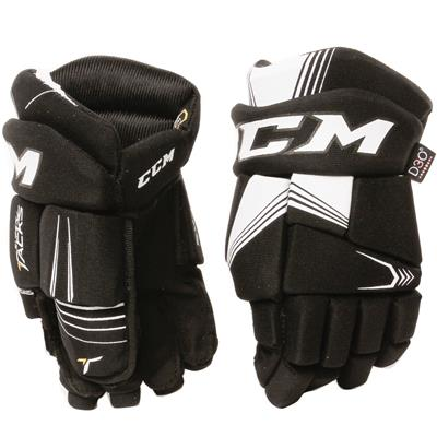 Black/White (CCM Super Tacks Hockey Gloves - Youth)