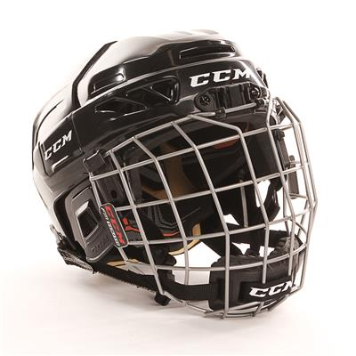 Black (CCM Fitlite 3DS Youth Hockey Helmet Combo)