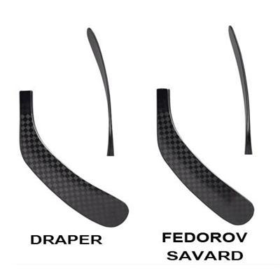 Blade chart (Warrior Spyne Double D Composite Blade - Junior)