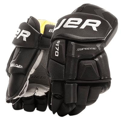 Black (Bauer Supreme S170 Hockey Gloves - 2017 - Senior)
