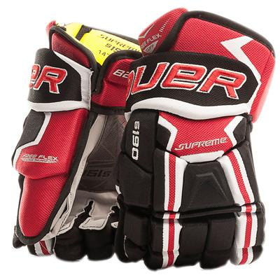 Black/Red (Bauer Supreme S190 Hockey Gloves - 2017 - Junior)