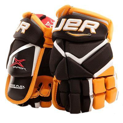 Black/Gold (Bauer Vapor 1X Hockey Gloves - Junior)