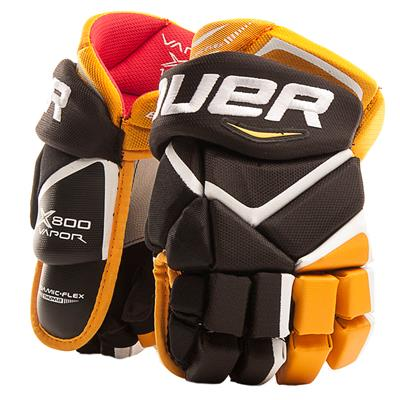 Black/Gold (Bauer Vapor X800 Hockey Gloves - Junior)