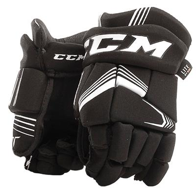 Black (CCM Super Tacks Hockey Gloves - Youth)