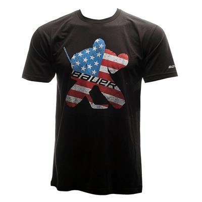 (Bauer Patriot Goalie Short Sleeve Tee Shirt - Youth)