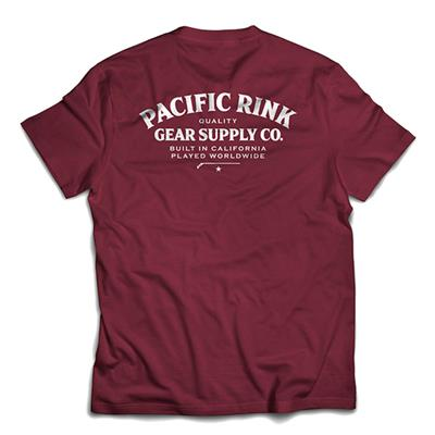 *Back Graphic Shown in Maroon* (Pacific Rink Heritage Tee Shirt - Black - Adult)