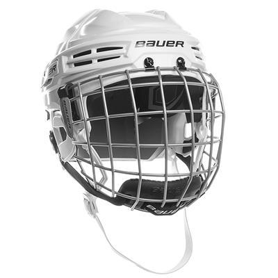 White (Bauer IMS 5.0 Hockey Helmet Combo)