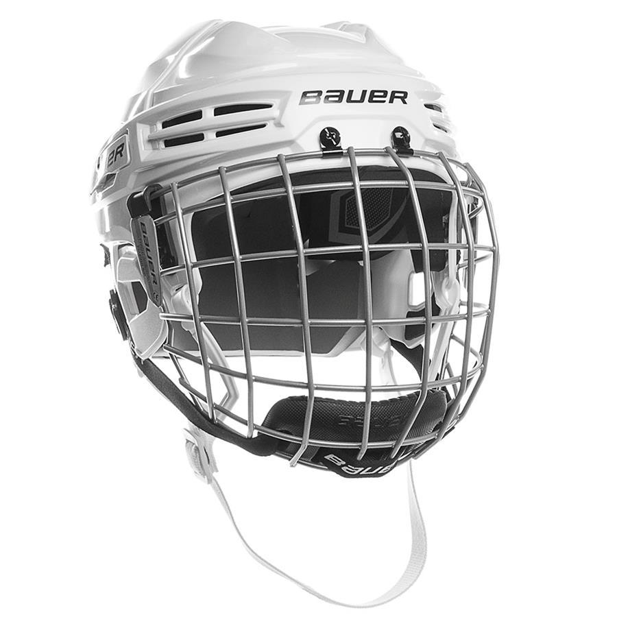 White (Bauer IMS 5.0 Hockey Helmet Combo) 6ecf5ea2d4abd