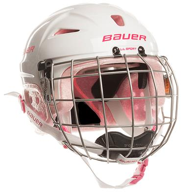 Pink (Bauer Lil Sport Hockey Helmet Combo - Youth)