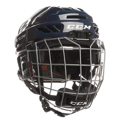 Navy (CCM Fitlite 3DS Youth Hockey Helmet Combo)