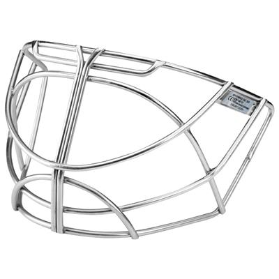 Chrome (Bauer S18 NME Non-Certified Hybrid Replacement Goalie Cage)