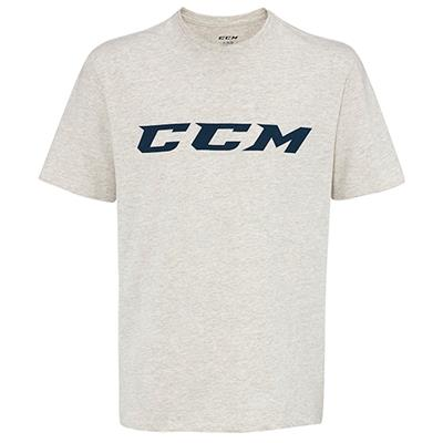 Oatmeal Heather (CCM Campus Short Sleeve Tee Shirt - Mens)