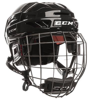 Black/Black (CCM Fitlite FL90 Hockey Helmet Combo)