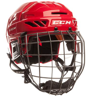 Red/Red (CCM Fitlite FL90 Hockey Helmet Combo)