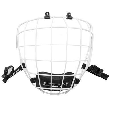 White (CCM 680 Facemask - Senior)