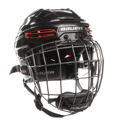 Black/Red (Bauer RE-AKT 100 Hockey Helmet Combo)