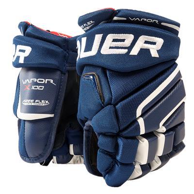 (Bauer Vapor X100 Hockey Gloves - Junior)