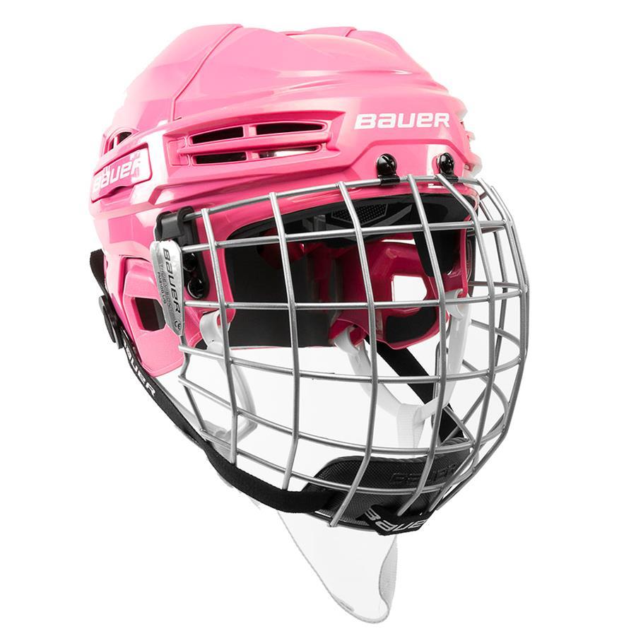 Pink (Bauer IMS 5.0 Hockey Helmet Combo) ece24bc75dcd5