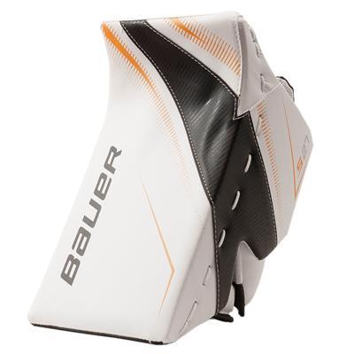 White/Black/Gold (Bauer Supreme S27 Goalie Blocker - Senior)