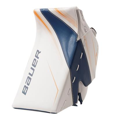 White/Blue/Gold (Bauer Supreme S27 Goalie Blocker - Senior)