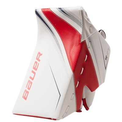 White/Red/Blue (Bauer Supreme S27 Goalie Blocker - Senior)