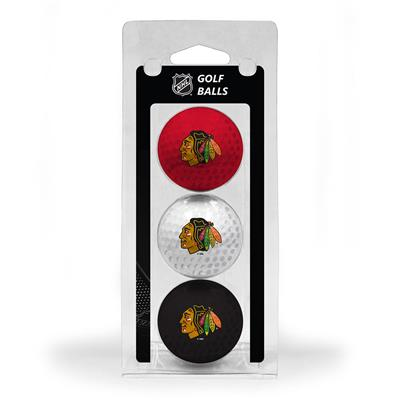 (Chicago Blackhawks Golf Ball - 3 Pack)