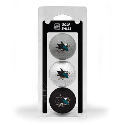 (San Jose Sharks Golf Ball - 3 Pack)