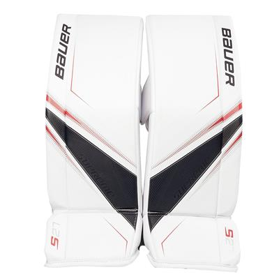 White/Navy/Red (Bauer Supreme S27 Goalie Leg Pads - Senior)