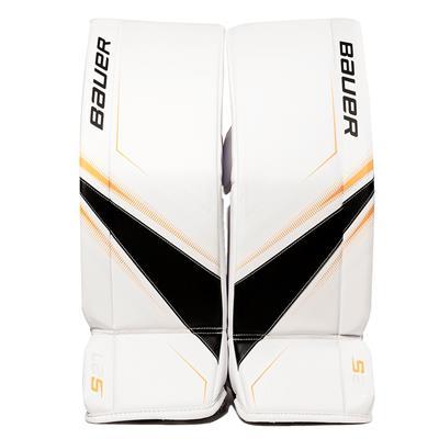 White/Black/Gold (Bauer Supreme S27 Goalie Leg Pads - Junior)
