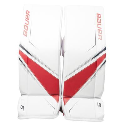 White/Red/Blue (Bauer Supreme S27 Goalie Leg Pads - Junior)