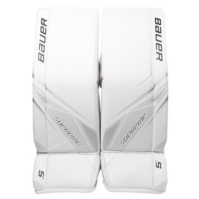 White/White (Bauer Supreme S27 Goalie Leg Pads - Junior)