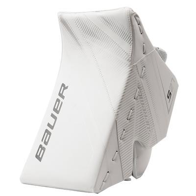 White/White (Bauer Supreme S27 Goalie Blocker - Senior)