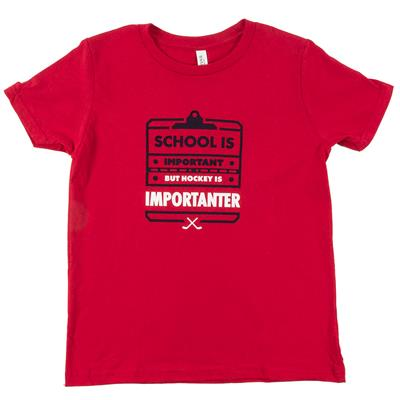 Red (PlusMinus School Is Important Youth Tee - Youth)