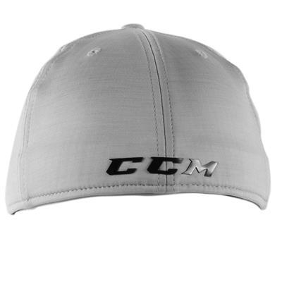 Light Grey/Black Back (CCM Tech Structured Flex Fit Hat - Adult)