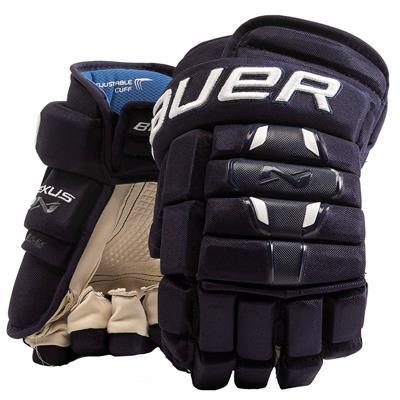 Navy (Bauer Nexus 2N Hockey Gloves - Senior)