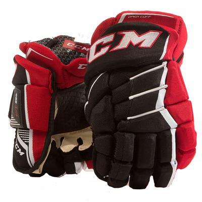 Black/Red/White (CCM JetSpeed FT390 Hockey Gloves - Senior)