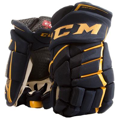 Navy/Sunflower (CCM JetSpeed FT390 Hockey Gloves - Senior)