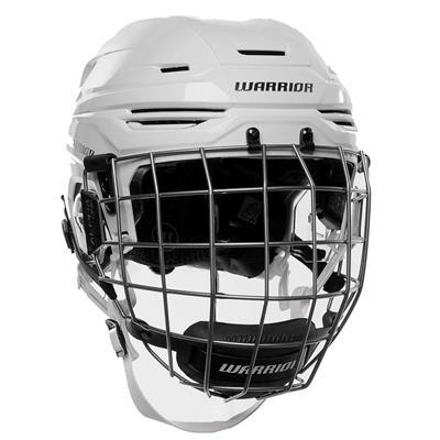 White (Warrior Alpha One Combo Hockey Helmet)