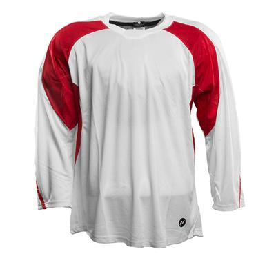 White/Red (Pure Hockey Two Tone Practice Jersey - Junior)
