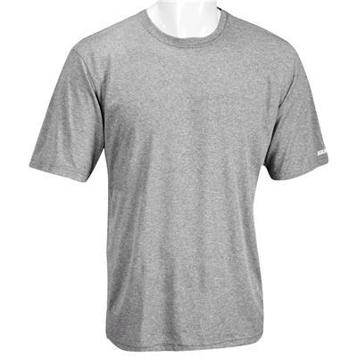 Heather Grey (Bauer Team Tech Short Sleeve Tee Shirt - Adult) 1d4f4312e